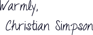 Christian Simpson Signature